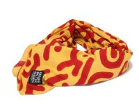MADE ON THE MOON【メイドオンザムーン】LANGUAGE OF TONGUES CHADOR SCARF *YELLOW/RED
