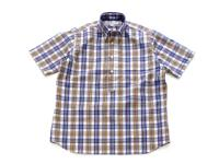 INDIVIDUALIZED SHIRTS【インディビジュアライズドシャツ】POP OVER SHORT SLEEVE SHIRT *CHECK B