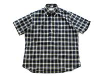INDIVIDUALIZED SHIRTS【インディビジュアライズドシャツ】POP OVER SHORT SLEEVE SHIRT *NAVY MULTI CHECK
